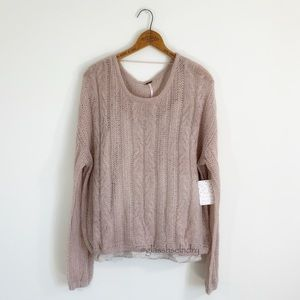 Free People Fuzzy Wool Blend Pullover Sweater
